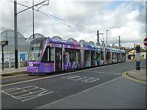 TQ3266 : Tram at West Croydon by Dr Neil Clifton