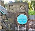 SJ7798 : St Mary's Parish Church: Blue plaque by Gerald England