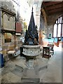 SJ7798 : St Mary's: Font and baptistry by Gerald England