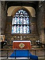 SJ7798 : Altar, reredos and East window by Gerald England