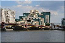TQ3078 : Vauxhall Bridge & SIS Building by N Chadwick