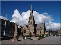 NS2982 : West Kirk on Colquhoun Square Helensburgh by Steve Houldsworth