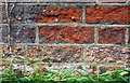 SP8827 : Benchmark on boundary wall of Dean Cottage, Great Brickhill Road by Roger Templeman