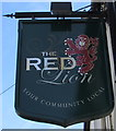 SY2998 : Red Lion name sign, Axminster by Jaggery
