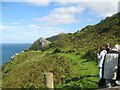 SS6949 : Lee Abbey ways - North Devon by Martin Richard Phelan
