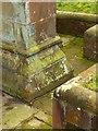 SK1746 : Flush bracket bench mark, St Oswald's Church, Ashbourne by Alan Murray-Rust