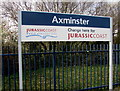 SY2998 : Axminster - change here for Jurassic Coast by Jaggery