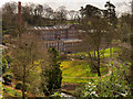 SJ8383 : The Lower Garden and Quarry Bank Mill by David Dixon