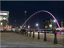 NZ2563 : Newcastle Quayside at night by Andrew Curtis