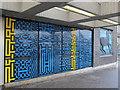 TQ3589 : Blackhorse Road tube station entrance - ceramic tiles by Mike Quinn