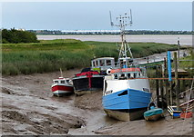 TA0623 : Boats moored at Barrow Haven by Mat Fascione