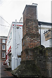 SW8132 : Chimney, Falmouth Harbour, Cornwall by Christine Matthews
