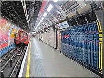 TQ2879 : Victoria tube station, Victoria Line - ceramic tiles (2) by Mike Quinn