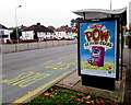 ST3089 : Put some POW in your cuppa advert, Malpas Road, Newport by Jaggery