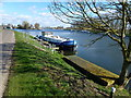 TF5800 : Moorings on The River Great Ouse at Denver Sluice, Norfolk by Richard Humphrey