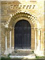 SP3145 : South door, Oxhill church by Philip Halling