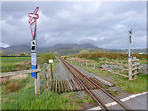 SH6041 : Welsh Highland Railway north of level crossing 54.67 by Robin Webster