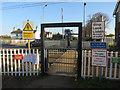 TL4048 : Pedestrian level crossing, Foxton by Hugh Venables