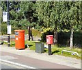SJ8096 : Postboxes on Trafford Wharf Road by Gerald England
