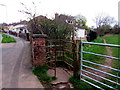 ST2887 : Kissing gate to a brookside track, Newport by Jaggery