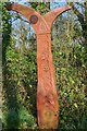TQ5805 : National Cycle Network Milepost by Oast House Archive
