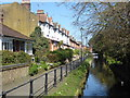TQ3296 : Riverside houses in Enfield by Marathon