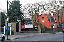 TQ4077 : Gate to the Blackheath Club and Poplar Cottage by Robin Webster