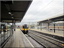 SP8633 : Bletchley Station Looking South by Roy Hughes