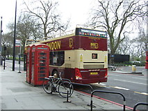TQ2780 : Telephone boxes on Park Lane by JThomas