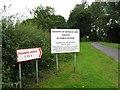 SJ3617 : Not this way - Pentre, Shropshire by Martin Richard Phelan