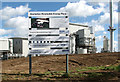 TM0091 : The Snetterton Renewable Energy Plant (information board) by Evelyn Simak