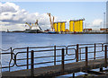 J3676 : Dock gate, Belfast Dry Dock by Rossographer