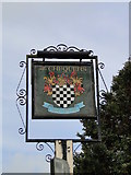 TG2219 : The hanging sign of the 'Chequers' public house by Adrian S Pye