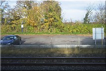 TQ0487 : Car park, Denham Station by N Chadwick