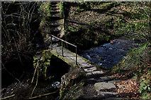 SE0927 : Footbridge over Shibden Brook by Chris Heaton
