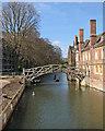 TL4458 : Queens' College: the rebuilt riverbank by John Sutton