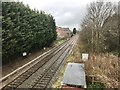 SJ7066 : Railway line north of A54 in Middlewich by Jonathan Hutchins
