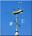 NS3274 : Port Glasgow Town Building weather vane by Thomas Nugent