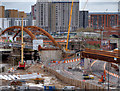 SJ8298 : Ordsall Chord, Construction of New Bridge over Trinity Way and River Irwell by David Dixon