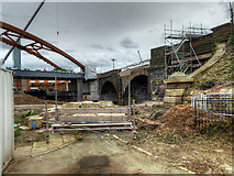 SJ8297 : Ordsall Chord, Old and New Bridges by David Dixon