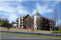 SO9097 : Apartments by the A449 Penn Road, Wolverhampton by Roger  Kidd