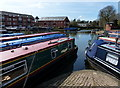 SP7287 : Narrowboats at the Market Harborough Canal Basin by Mat Fascione