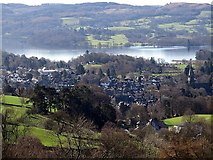 NY3704 : Ambleside from the north by Andrew Curtis
