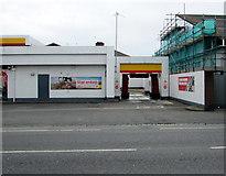 SZ6599 : Car wash exit, Goldsmith Avenue, Portsmouth by Jaggery