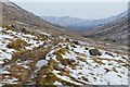 NH0814 : Track with snowmelt, An Caorann Mor by Jim Barton