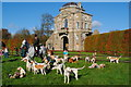 ST8187 : Beaufort Hunt Meet at Worcester Lodge, Didmarton, Gloucestershire 2014 by Ray Bird