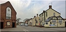 SK8975 : Corner of Sykes Lane and High Street, Saxilby by Chris Morgan