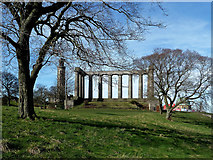 NT2674 : Calton Hill Monuments by Mary and Angus Hogg