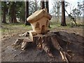 NS3982 : Fairy house in Balloch Park by Lairich Rig