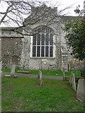 TQ9220 : Restored window of St Mary's church by John Baker